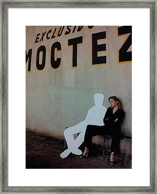 White-out 4 Exclusivo Moctez Framed Print by William Douglas
