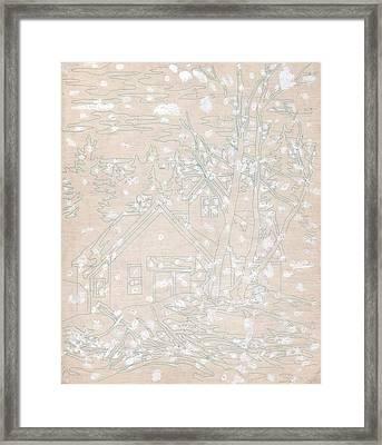 White-out 5 Framed Print