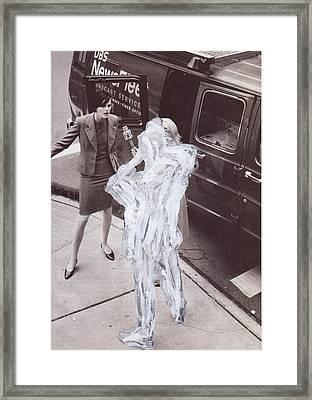 White-out 8 Framed Print
