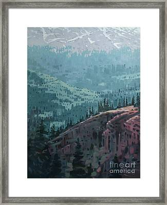 White Pass To The Klondike Framed Print by Donald Maier