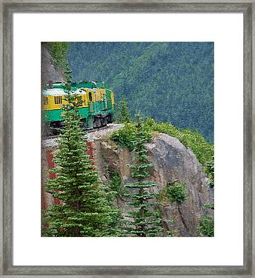 White Pass Train Alaska - Canada Framed Print