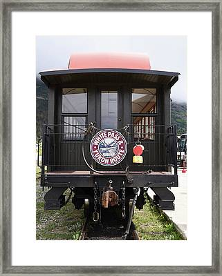 White Pass Train Caboose Framed Print
