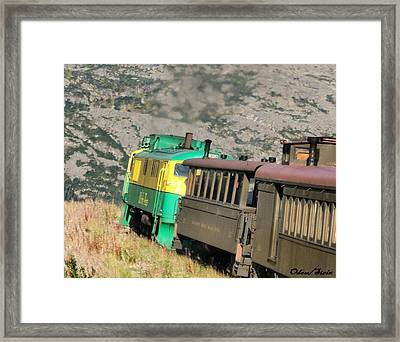 White Pass Yukon Route Railroad Framed Print by Dennis Stein