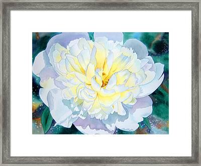 White Peony Framed Print by Teresa Boston