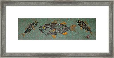 White  Perch With Yellow Perch Framed Print
