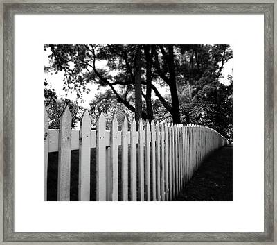 White Picket Fence- By Linda Woods Framed Print by Linda Woods