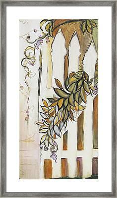White Pickett Fence Framed Print by Carrie Jackson