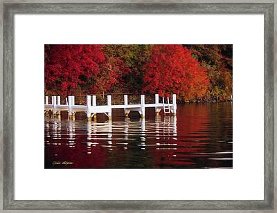 White Pier - Lake Geneva Wisconsin Framed Print