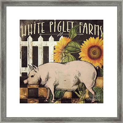 White Piglet Farms Framed Print