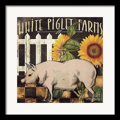 Potbelly Pig Framed Prints