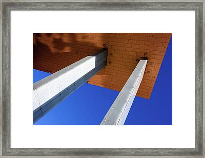 White Pillars Framed Print