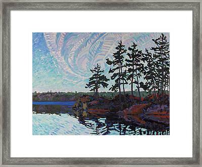 White Pine Island Framed Print by Phil Chadwick