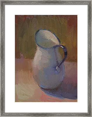 White Pitcher Framed Print by Kathryn Townsend