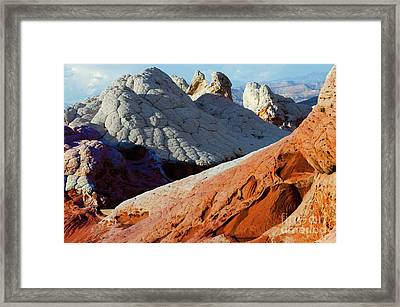 Framed Print featuring the photograph White Pocket 34 by Bob Christopher