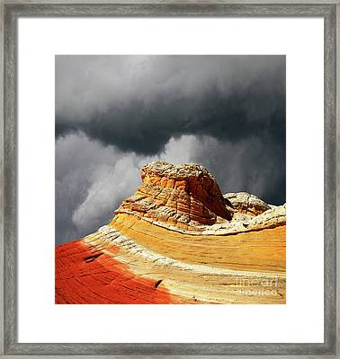 Framed Print featuring the photograph White Pocket 35 by Bob Christopher