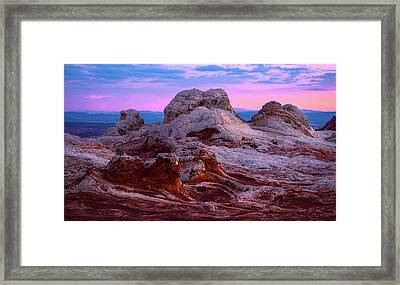 White Pocket Framed Print