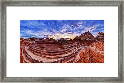 White Pocket Fall 2 Framed Print by ABeautifulSky Photography