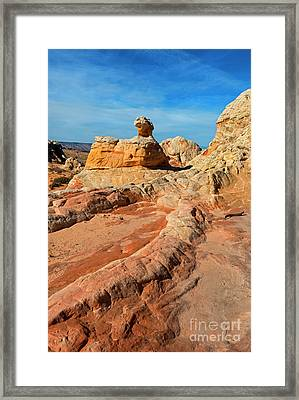 White Pocket Hoodoo Framed Print by Mike Dawson