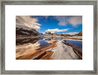 White Pocket Northern Arizona Framed Print by Larry Marshall
