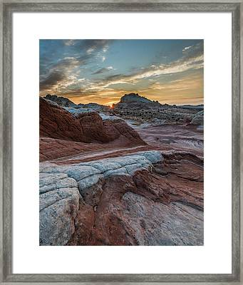 Framed Print featuring the photograph White Pocket Sunset by Chuck Jason