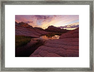 Framed Print featuring the photograph White Pocket Sunset by Jonathan Davison