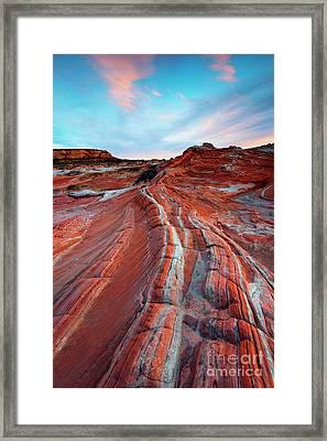 White Pocket Sunset Framed Print by Mike Dawson