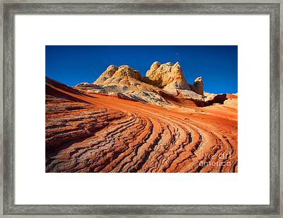 White Pocket Wave Framed Print by Inge Johnsson