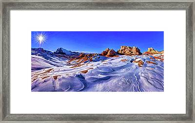 White Pocket Winter Framed Print by ABeautifulSky Photography