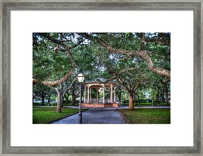 White Point Gardens Framed Print