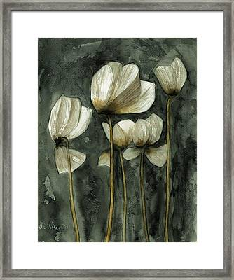 White Poppies Framed Print by Ben Potter