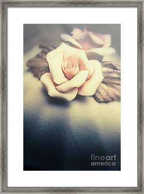 White Porcelain Rose Framed Print