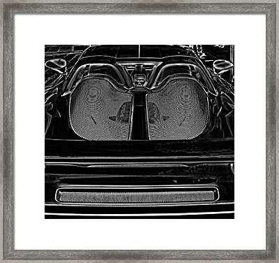 White Porsche  Framed Print by Fred Nugent