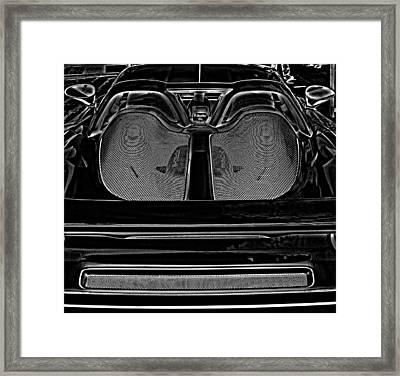 White Porsche  Framed Print by Fred Nugent