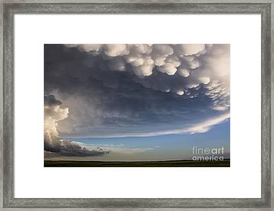 White Pouches Framed Print