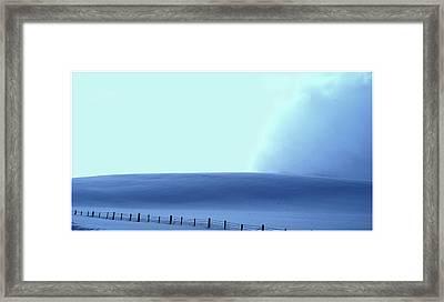 White Powder Wave Framed Print