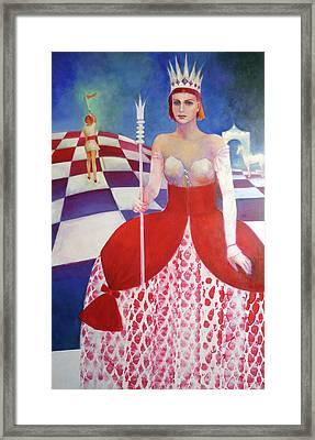 White Queen Framed Print by Elena Bardina