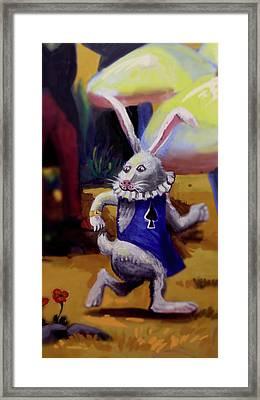 White Rabbit Framed Print