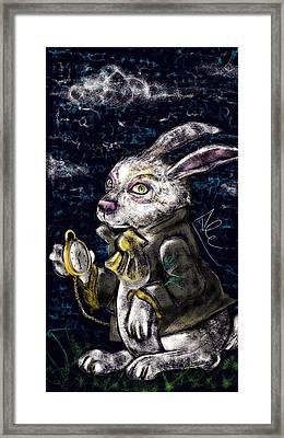 White Rabbit Framed Print by Alessandro Della Pietra