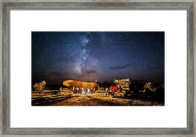 White Rim Camp Framed Print
