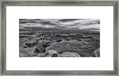 White Rim Overlook Monochrome Framed Print