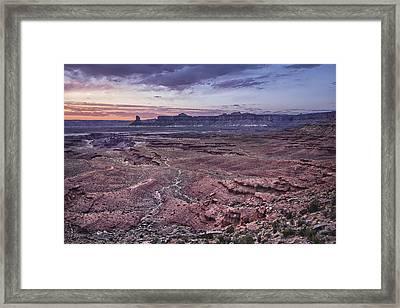 White Rim Trail Vista Framed Print by Adam Romanowicz
