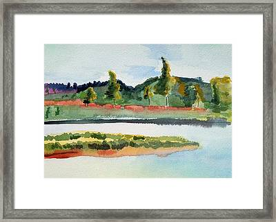 White River At Royalton After Edward Hopper Framed Print
