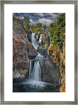 White River Falls State Park Framed Print by David Gn