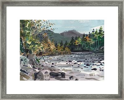 White River In Autumn Framed Print by Donald Maier