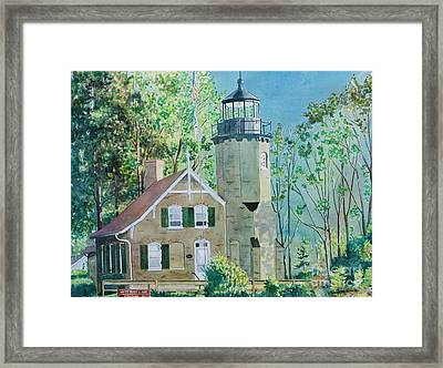 Framed Print featuring the painting White River Light by LeAnne Sowa