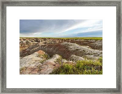 White River Valley Badlands Framed Print