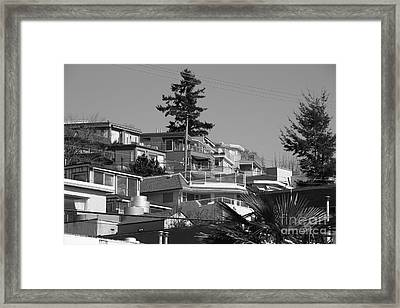 White Rock Framed Print