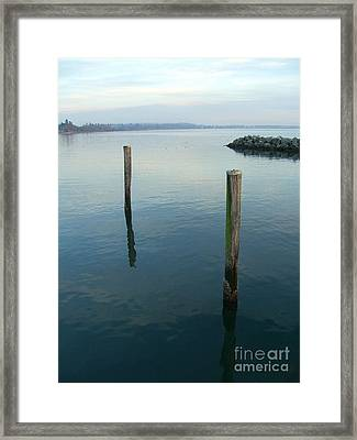 White Rock Water Framed Print by Jim Thomson
