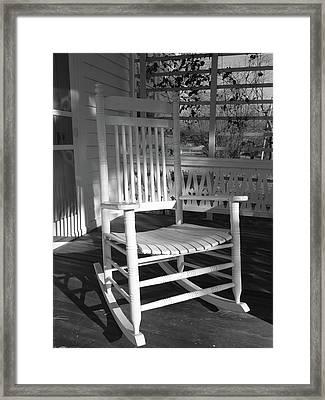 White Rocker Framed Print by Scott Kingery