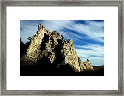 White Rocks Framed Print by Anthony Jones